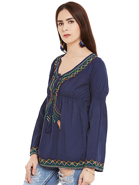 BOHO CHIC EMBROIDERED TUNIC