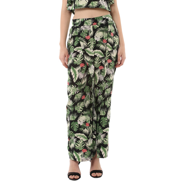 Miway Women's Polyester Multi Printed Trouser