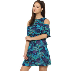 Miway Women's Rayon Multicolor Printed Casual Dress - Miway Fashion