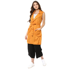 TIE BELT ALL SEASON MARIGOLD JACKET - Miway Fashion