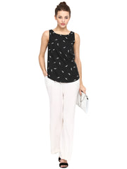 VISCOSE SOLID WHITE PALAZZOS - Miway Fashion