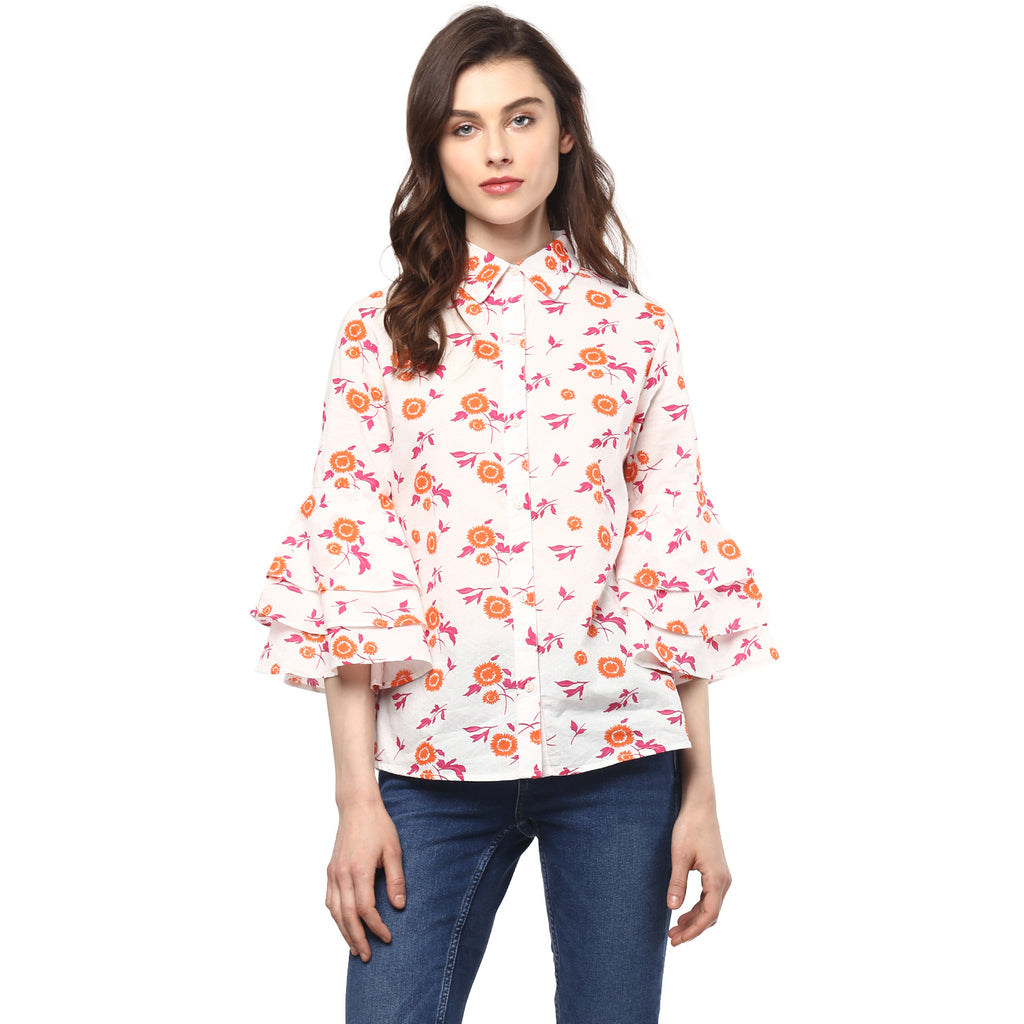 Miway Women's Cotton Multicolor Printed Casual Shirt - Miway Fashion