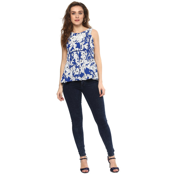 Miway Polyester floral printed top