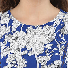 FLORAL PRINTED TOP - Miway Fashion