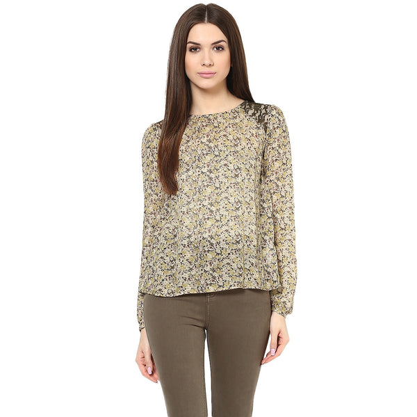 DITSY SAFARI TOP - Miway Fashion