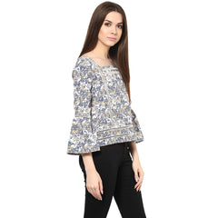 LADDERED FRILL TOP - Miway Fashion