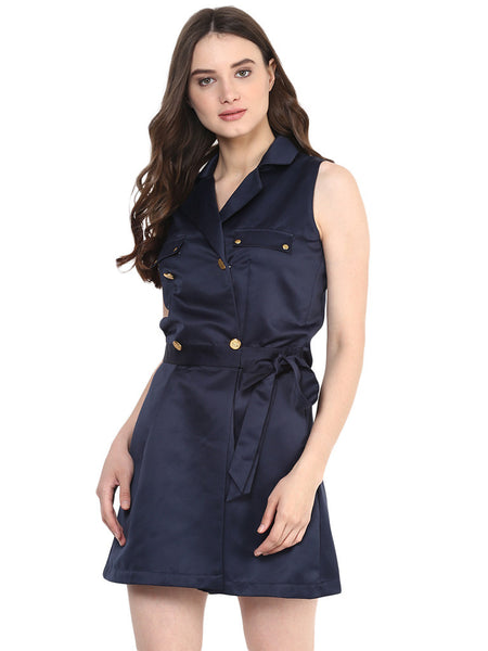 SHORT SATIN BLAZER JUMPSUIT - Miway Fashion