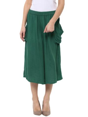 EMERALD GREEN CULOTTES - Miway Fashion