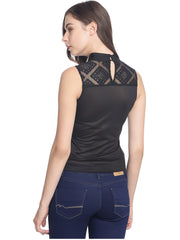 Miway Women  Black Solid Top