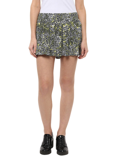 Miway Multicolor Printed  Polyester Shorts