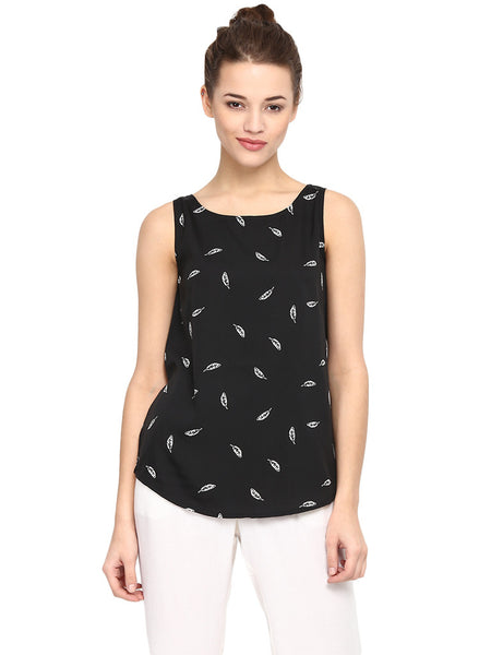FEATHER PRINT CAMISOLE TOP - Miway Fashion