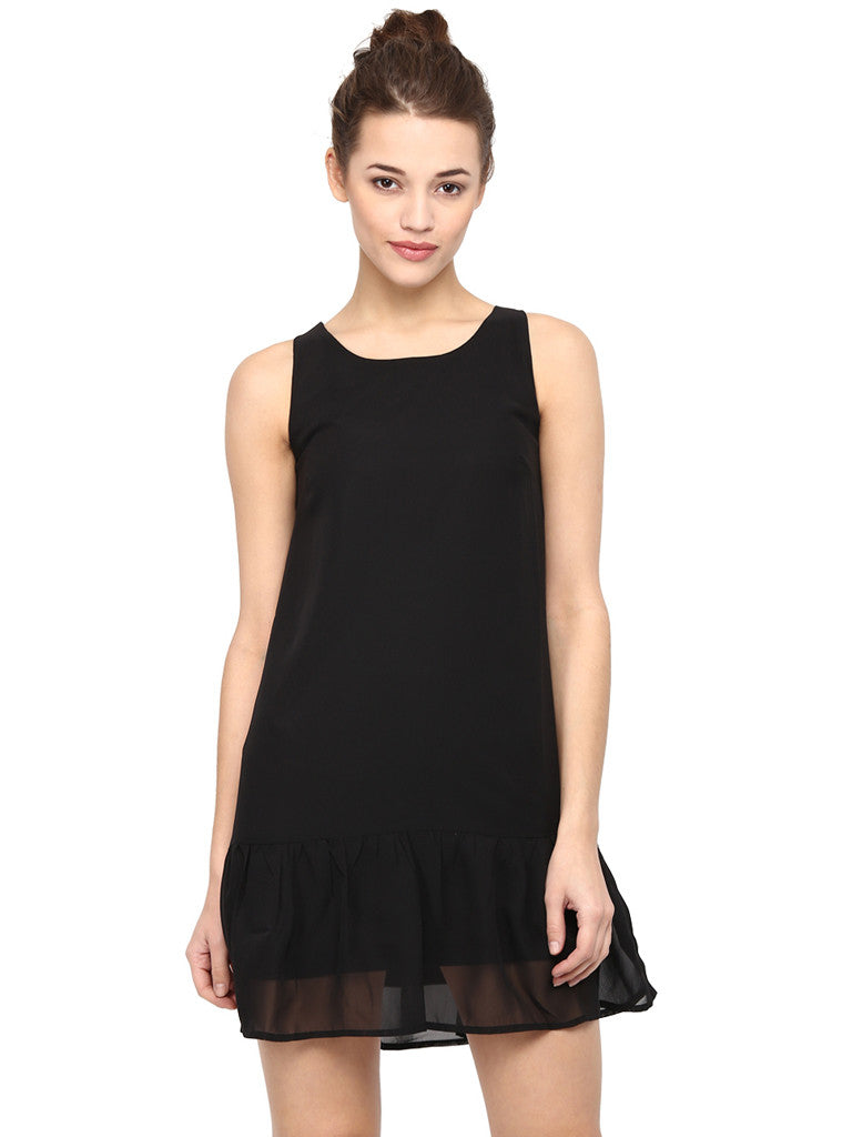 RUFFLE HEM SHORT DRESS - Miway Fashion