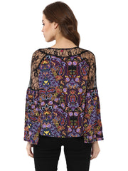 Miway Multicolor Printed  Polyester top - Miway Fashion