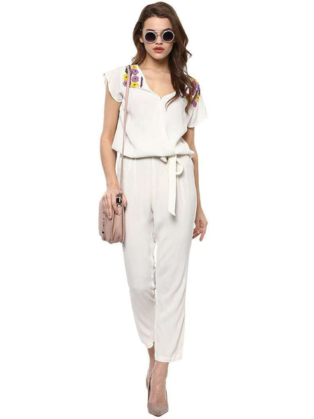 BEADED LONG JUMPSUIT