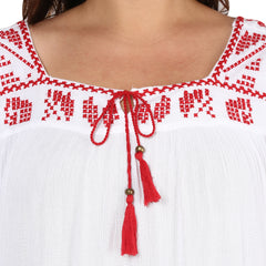 RETRO WITH RED AND WHITE TUNIC - Miway Fashion