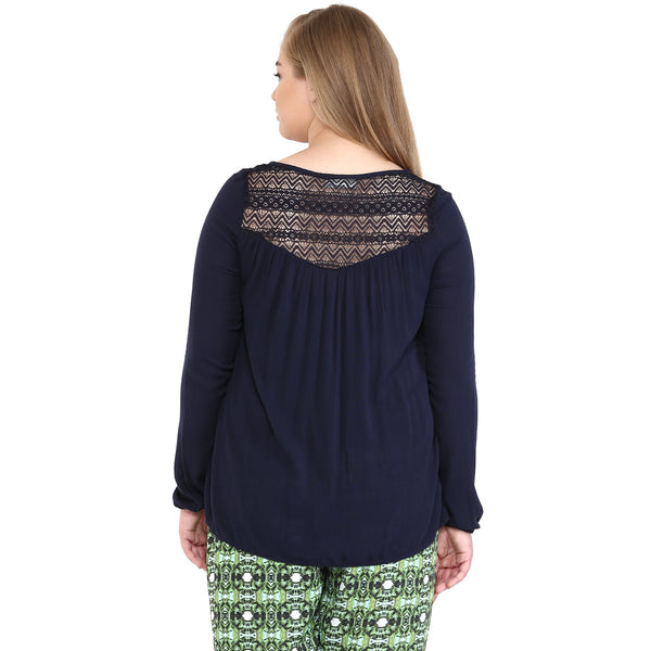 LACE INSERTED TUNIC