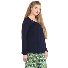 LACE INSERTED TUNIC - Miway Fashion