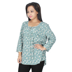 Plus Wink Multicolor Printed Top - Miway Fashion