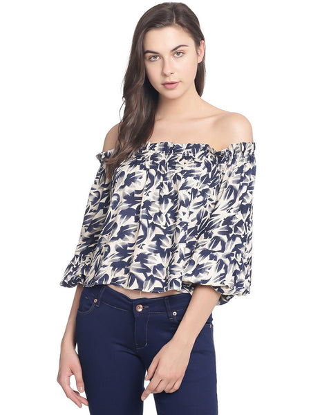 OFF SHOULDER BANDEAU TOP - Miway Fashion