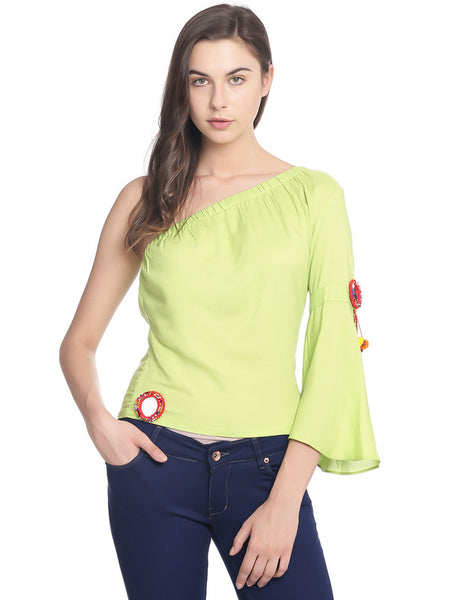 Miway Women  Green Solid Top - Miway Fashion
