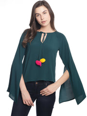 Miway Women  Green solid Top