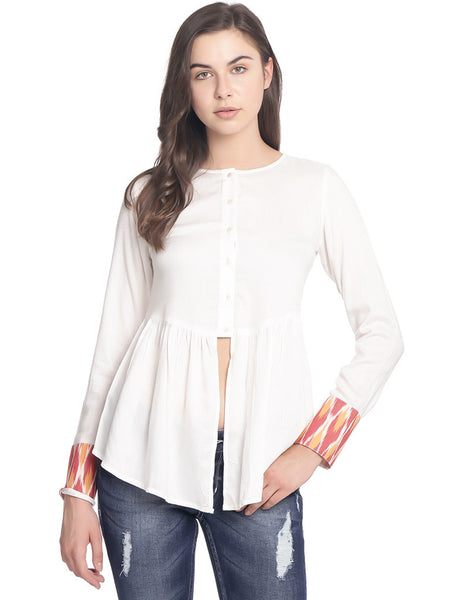 Miway Women  White Solid Top - Miway Fashion