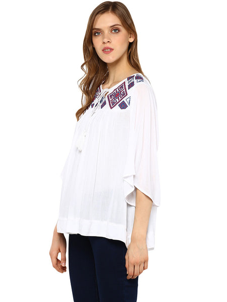 Miway Embroided Babydoll Tunic