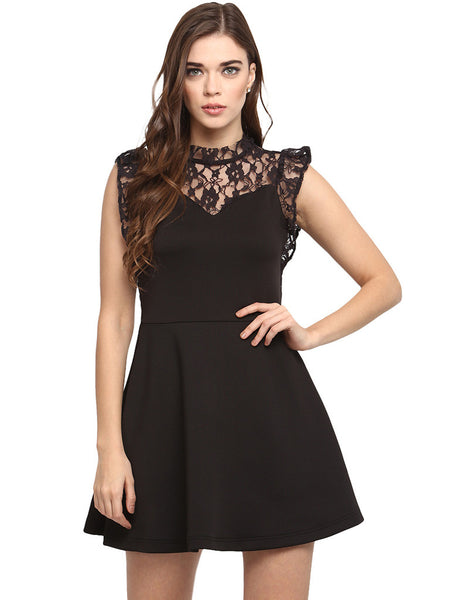 LACED UP TO PARTY DRESS - Miway Fashion