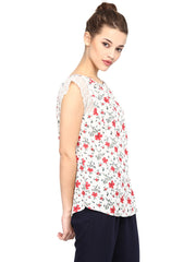 FOR EVERY DENIM RED TOP - Miway Fashion