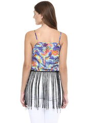 MIWAY Tropical Tassel Crop Top - Miway Fashion
