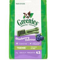 Greenies Teenie Dental Treats Blueberry 340g