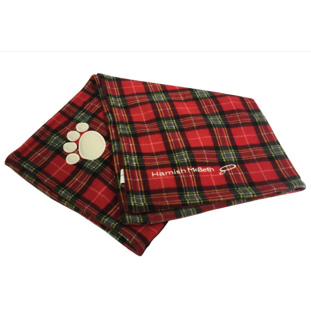 Hamish McBeth Fleece Blanket Red Tartan