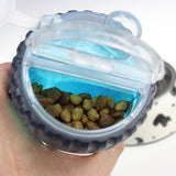 Dexas Snack Duo Travel Feeder Compartments