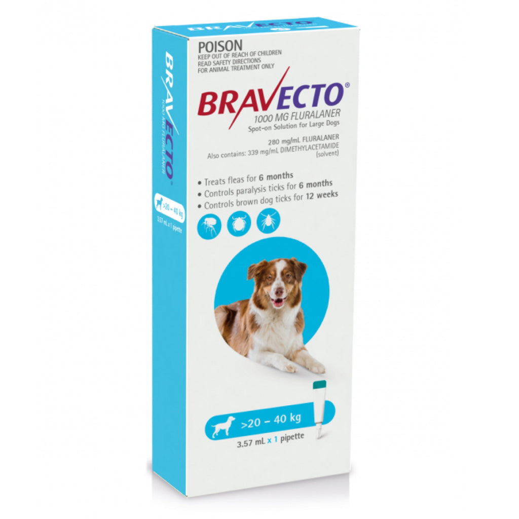Bravecto Large Blue 20-40kg Spot On