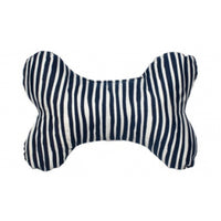 Dog Soft Toy Mog & Bone Stripe Print Navy