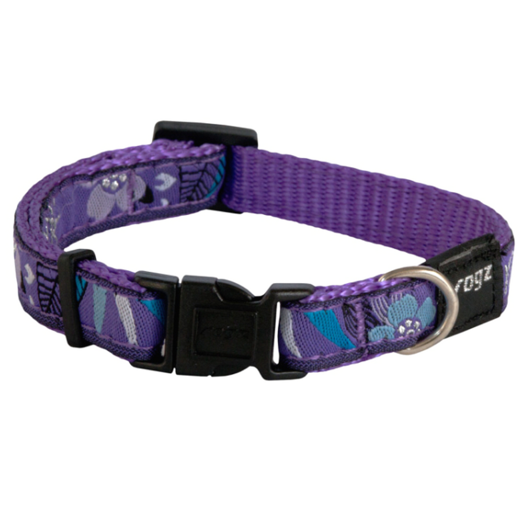 Rogz Fancy Dress Collar Purple Forest
