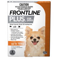 Frontline Plus Orange Small 0-10kg 6pk
