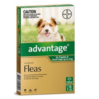 Dog Treatment Advantage Fleas Up To 4kgs 6pk