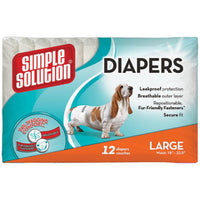 Simple Solution Disposable Diapers 12pk Large
