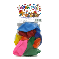 Party Pets Round Balloons 10pk