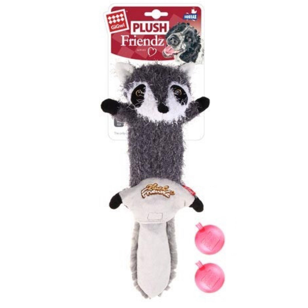 Dog Toy Gigwi Plush Friendz Coon Skin