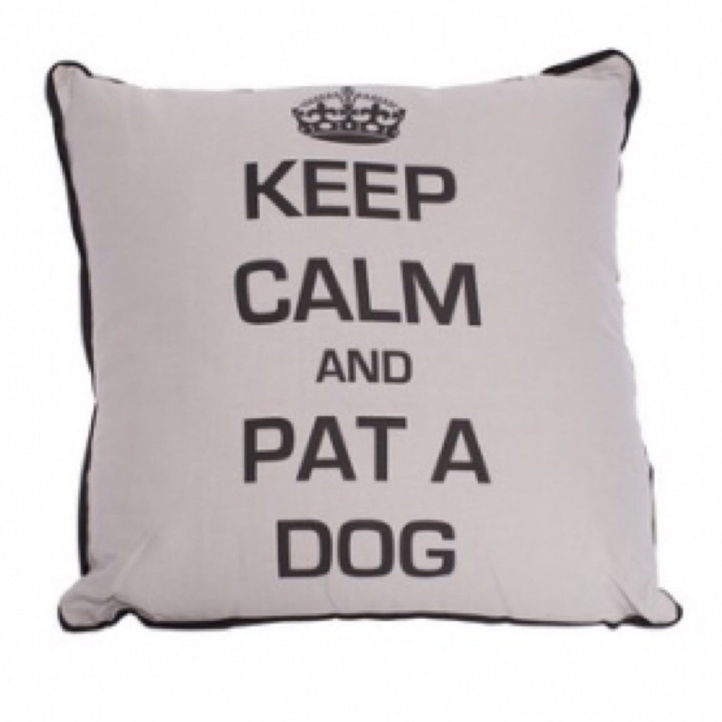 Mog & Bone Keep Calm & Pat The dog Cushion
