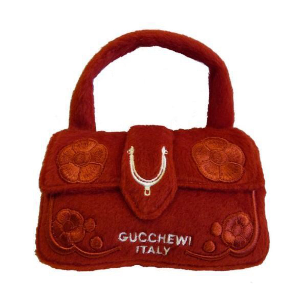 Dog Diggin Designs Gucchewi Red Floral Bag Toy