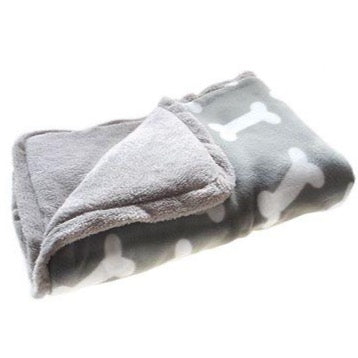 Canine Care Blanket Grey Bone Print