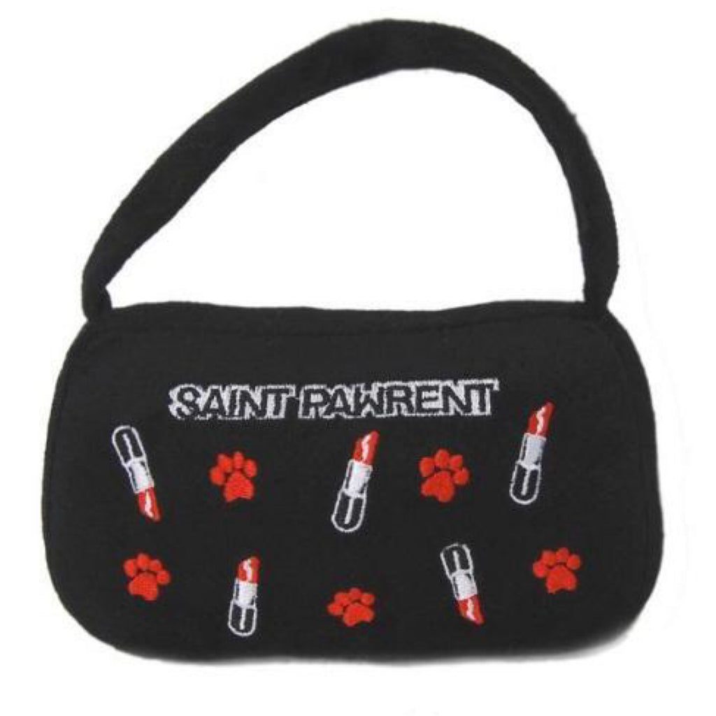 Dog Diggin Designs Saint Pawrent Lipstick Bag Dog Toy
