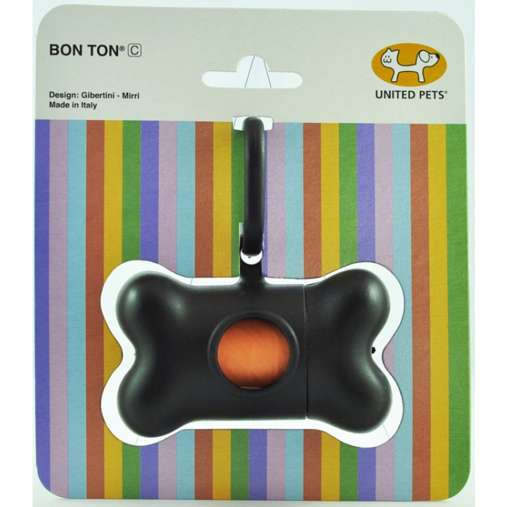 United Pets Bon Ton Classic Waste Dispenser Black