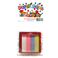 Party Pets Birthday Candles 24pk