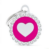 My Family Glam Heart Pink ID Tag Charm