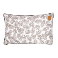 Dog Bed Futon Tropical Leaf Mocca