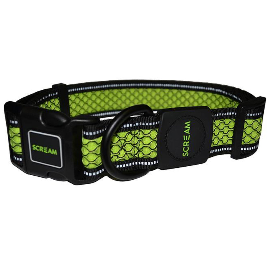 Scream Reflective Adjustable Colar Loud Green